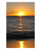 Maui Golden Sunset Photographic Print by Chris Burns
