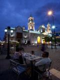 Tourists at a Sidewalk Cafe, Plaza 9 De Julio, Salta, Argentina Photographic Print