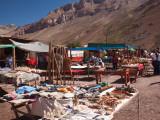 Tourist in a Flea Market, Puente Del Inca, Mendoza Province, Argentina Photographic Print