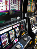 Slot Machines at an Airport, Mccarran International Airport, Las Vegas, Nevada, USA Photographic Print