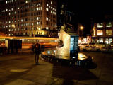Statue of Adam Clayton Powell Jr at Night, Harlem, Manhattan, New York City, New York State, USA Photographic Print