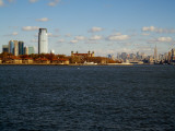 Buildings at the Waterfront, Hudson River, Ellis Island, Manhattan, New York City, New York Photographic Print