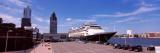 Cruise Ship at a Harbor, Rotterdam, South Holland, Netherlands Photographic Print