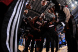 Miami Heat v Dallas Mavericks - Game Five, Dallas, TX -June 9: Dwyane Wade, Mario Chalmers, Mike Mi Photographic Print by Andrew Bernstein