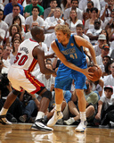 Dallas Mavericks v Miami Heat - Game Six, Miami, FL - June 12: Dirk Nowitzki and Joel Anthony Photographic Print by Nathaniel S. Butler