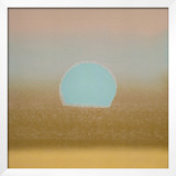 Sunset, c.1972 (gold, blue) Framed Giclee Print by Andy Warhol