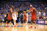Miami Heat v Dallas Mavericks - Game Three, Dallas, TX -June 5: Dwyane Wade and LeBron James Photographic Print by Garrett Ellwood