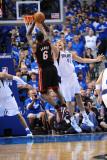 Miami Heat v Dallas Mavericks - Game Five, Dallas, TX -June 9: Dirk Nowitzki and LeBron James Photographic Print by Garrett Ellwood
