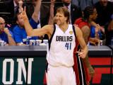 Miami Heat v Dallas Mavericks - Game Three, Dallas, TX -June 5: Dirk Nowitzki Photographic Print by Tom Pennington