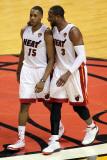 Dallas Mavericks v Miami Heat - Game Six, Miami, FL - June 12: Mario CHalmers and Dwyane Wade Photographic Print by Marc Serota
