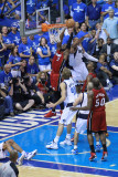 Miami Heat v Dallas Mavericks - Game Four, Dallas, TX -June 7: Dwyane Wade, Shawn Marion, Dirk Nowi Photographic Print by Bill Baptist