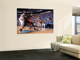 Miami Heat v Dallas Mavericks - Game Five, Dallas, TX -June 9: Jose Barea, Chris Bosh and Dirk Nowi Wall Mural by Andrew Bernstein