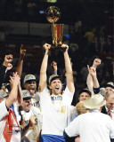 Dallas Mavericks - Drik Nowitzki with the Championship Trophy Photo