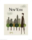 New York Plakater af Blanca Gomez