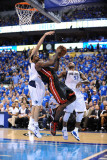 Miami Heat v Dallas Mavericks - Game Five, Dallas, TX -June 9: LeBron James and Dirk Nowitzki Photographic Print by Garrett Ellwood
