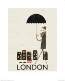 Collage van Londen Kunst van Blanca Gomez