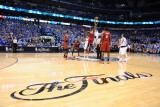 Miami Heat v Dallas Mavericks - Game Four, Dallas, TX -June 7: Joel Anthony and Tyson Chandler Photographic Print by Garrett Ellwood