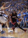 Miami Heat v Dallas Mavericks - Game Five, Dallas, TX -June 9: Dwyane Wade and Dirk Nowitzki Photographic Print by Glenn James