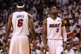 Dallas Mavericks v Miami Heat - Game Six, Miami, FL - June 12: Dwyane Wade and LeBron James Photographic Print by Mike Ehrmann
