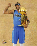 Dallas Mavericks - Jason Terry with the Championship Trophy Photo