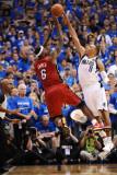 Miami Heat v Dallas Mavericks - Game Three, Dallas, TX -June 5: Shawn Marion and LeBron James Photographic Print by Garrett Ellwood