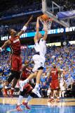 Miami Heat v Dallas Mavericks - Game Three, Dallas, TX -June 5: Dirk Nowitzki and Chris Bosh Photographic Print by Garrett Ellwood