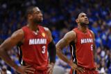 Miami Heat v Dallas Mavericks - Game Four, Dallas, TX -June 7: Dwyane Wade and LeBron James Photographic Print by Garrett Ellwood