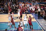 Miami Heat v Dallas Mavericks - Game Four, Dallas, TX -June 7: Chris Bosh and Tyson Chandler Photographic Print by Glenn James