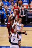 Miami Heat v Dallas Mavericks - Game Four, Dallas, TX -June 7: Chris Bosh, Jason Kidd and Dirk Nowi Photographic Print by Tom Pennington