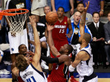 Miami Heat v Dallas Mavericks - Game Four, Dallas, TX -June 7: Dwyane Wade, Dirk Nowitzki and Tyson Photographic Print by Tom Pennington