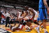 Dallas Mavericks v Miami Heat - Game Six, Miami, FL - June 12: Chris Bosh, Joel Anthony and LeBron  Photographic Print by Andrew Bernstein