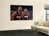 Miami Heat v Dallas Mavericks - Game Five, Dallas, TX -June 9: LeBron James and Dwyane Wade Wall Mural by Jesse D. Garrabrant
