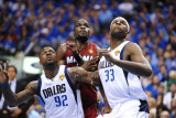 Miami Heat v Dallas Mavericks - Game Four, Dallas, TX -June 7: Joel Anthony, DeShawn Stevenson and  Photographic Print by Garrett Ellwood