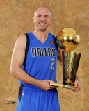 Dallas Mavericks - Jason Kidd with the Championship Trophy Photo