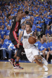 Miami Heat v Dallas Mavericks - Game Five, Dallas, TX -June 9: Jose Juan Barea and Chris Bosh Photographic Print by Glenn James