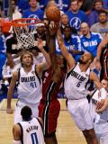 Miami Heat v Dallas Mavericks - Game Four, Dallas, TX -June 7: LeBron James, Tyson Chandler and Dir Photographic Print by Tom Pennington