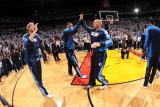 Dallas Mavericks v Miami Heat - Game Six, Miami, FL - June 12: Jason Kidd, Tyson Chandler and Dirk  Photographic Print by Andrew Bernstein