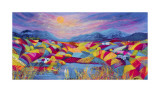 Rainbow Fields Collectable Print by Kathleen Buchan
