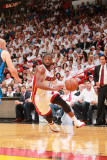 Dallas Mavericks v Miami Heat - Game Six, Miami, FL - June 12: Dwyane Wade and Jason Kidd Photographic Print by Victor Baldizon