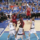 Miami Heat v Dallas Mavericks - Game Three, Dallas, TX -June 5: Dwyane Wade and Jason Kidd Photographic Print by Glenn James