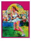 """Girl tennis player,"" May/June 1976 Reproduction procédé giclée par LeRoy Neiman"
