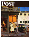 """Antique Store,"" Saturday Evening Post Cover, June 28, 1947 Giclee Print by John Falter"