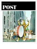 """Advertising Characters on Parade,"" Saturday Evening Post Cover, March 13, 1965 Giclee Print by N.M. Bodecker"