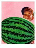 """Big Watermelon,"" August 22, 1942 Giclee Print by Charles Kaiser"