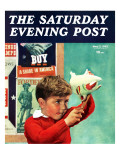 """""""Saving for War Bonds,"""" Saturday Evening Post Cover, May 2, 1942 Giclee Print by Preston Duncan"""