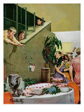 """Stealing Cake at Grownups Party,"" September 10, 1960 Giclee Print by Thornton Utz"