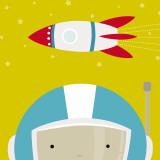 Peek-a-Boo Heroes: Astronaut Prints by Yuko Lau