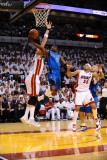 Dallas Mavericks v Miami Heat - Game Six, Miami, FL - June 12: Jose Barea, Eddie House and Mike Mil Photographic Print by Garrett Ellwood