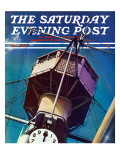 """Tower on Battleship,"" Saturday Evening Post Cover, March 9, 1940 Giclee Print by Arthur C. Radebaugh"