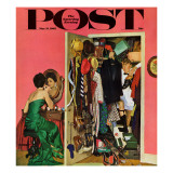 """Hunting His Tux for the Party,"" Saturday Evening Post Cover, March 31, 1962 Giclee Print by Richard Sargent"